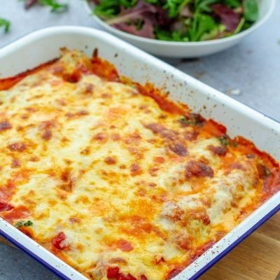 Super Simple Spinach and Ricotta Cannelloni