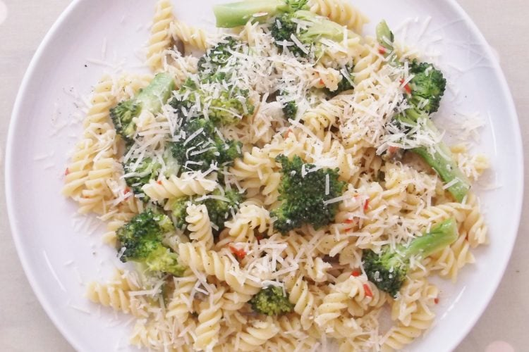 Broccoli, Lemon and Chilli Pasta