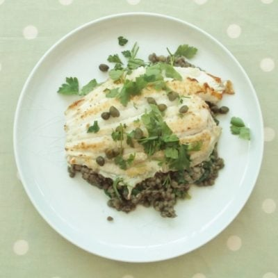 Lemon Sole with Puy Lentils