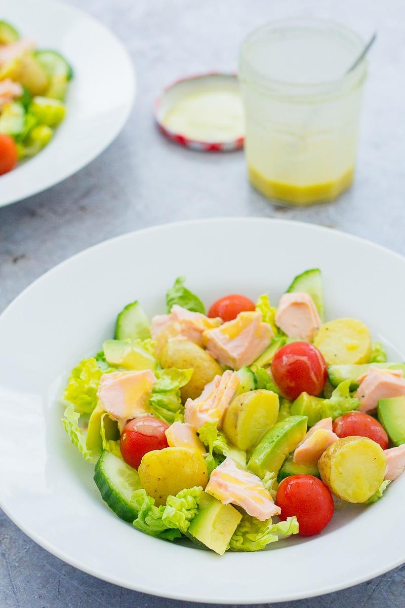 Salmon, Avocado and Potato Salad