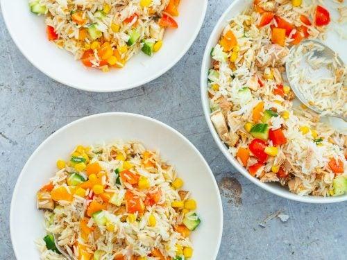 Easy Tuna Rice Salad Easy Peasy Foodie