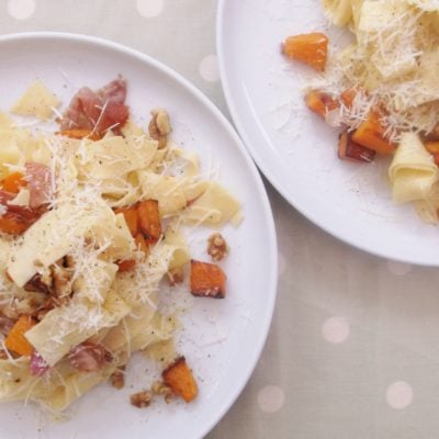 Butternut Squash, Prosciutto and Walnut Pasta