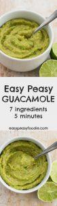 Easy Peasy Guacamole