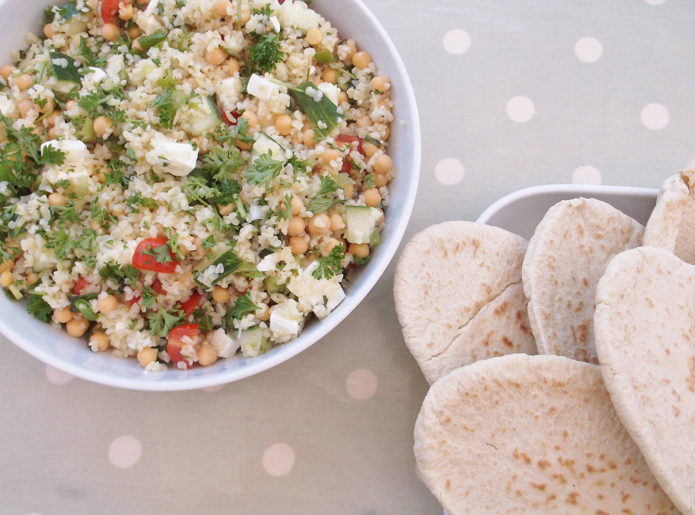 Chickpea, Feta and Herb Salad - Easy Peasy Foodie