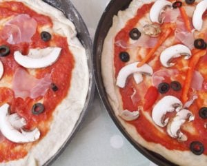 Toppings on pizza