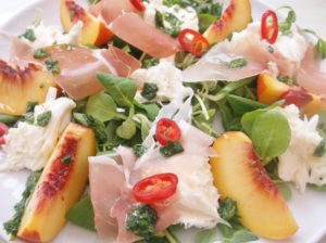 Peach, Prosciutto and Mozzarella Salad