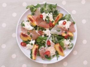 Peach, Prosciutto and Mozzarella Salad 6