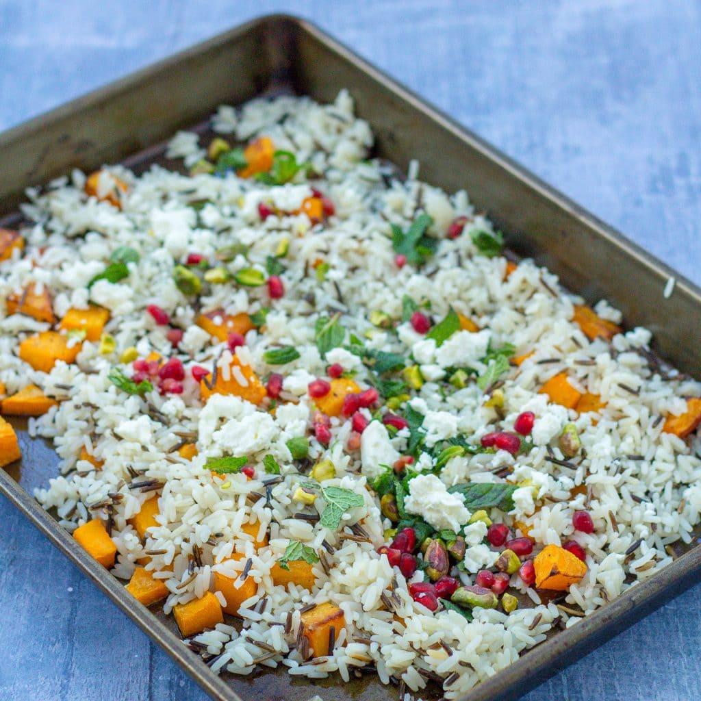Easy Christmas Rice Salad