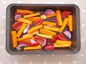 Warm Butternut Squash, Harissa and Halloumi Salad 6