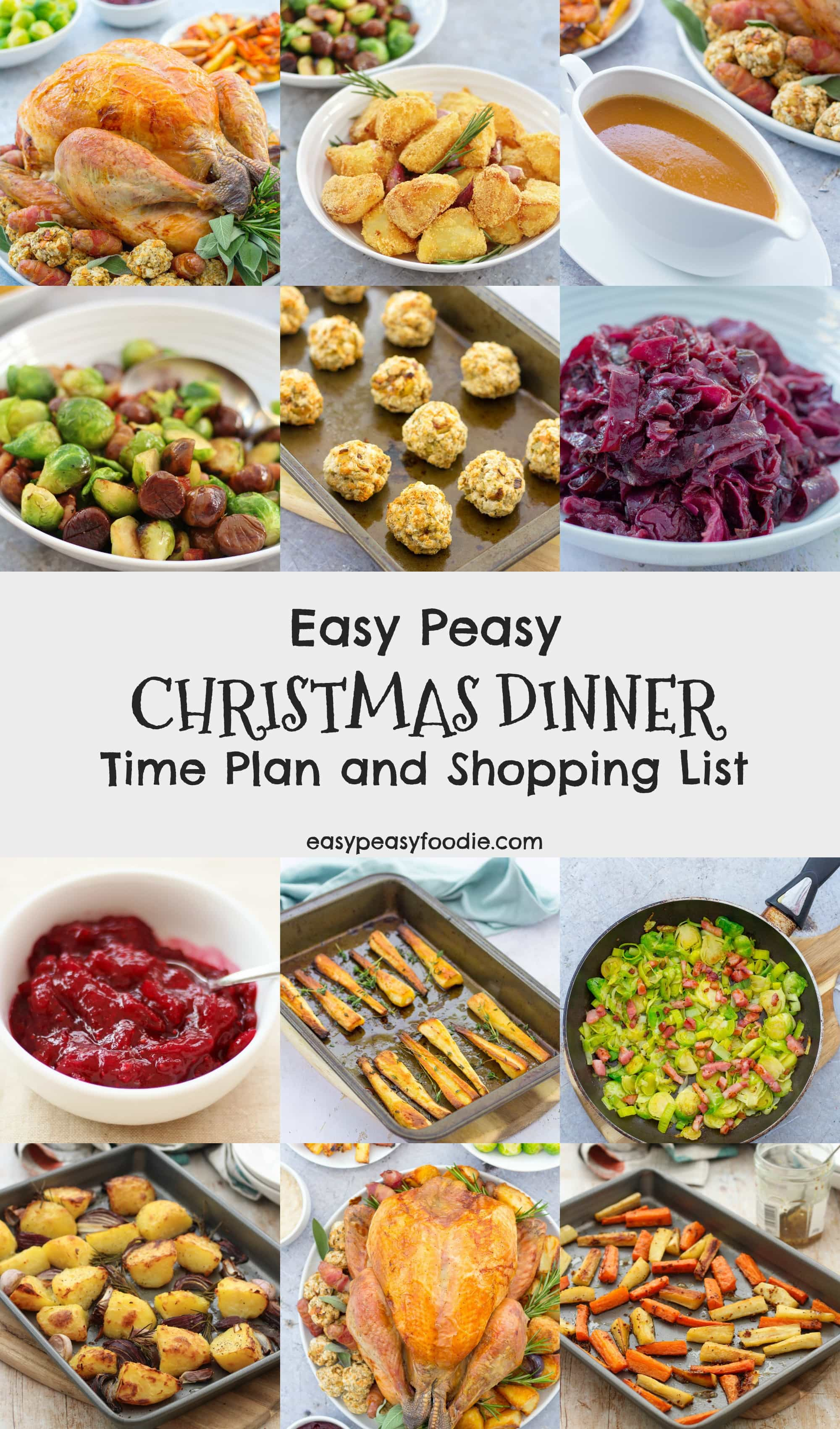 Easy Peasy Christmas Dinner Time Plan
