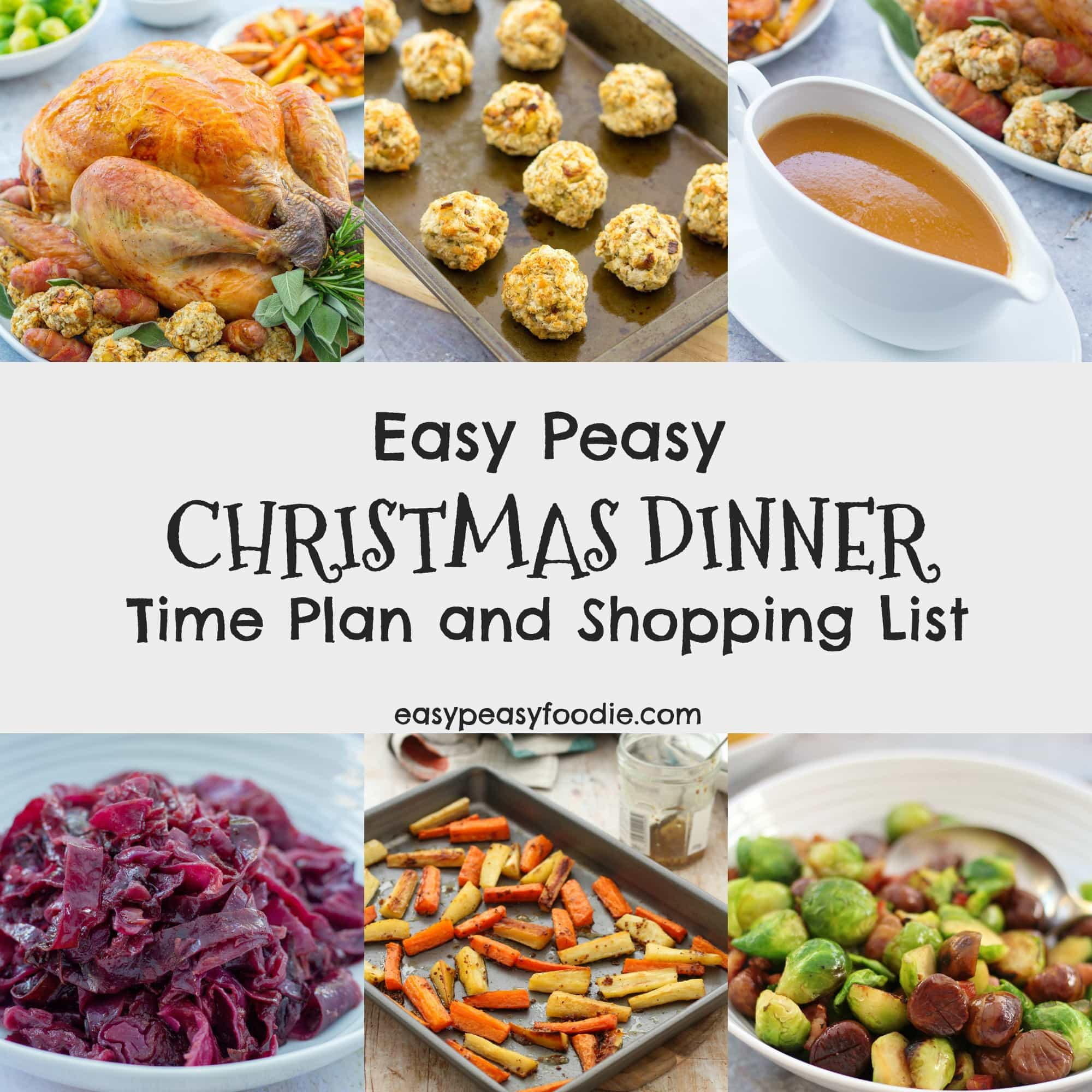 Easy Peasy Christmas Dinner Time Plan