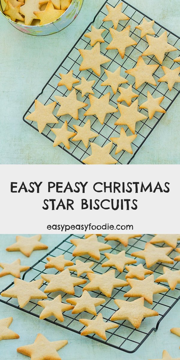 Easy Peasy Christmas Star Biscuits - pinnable image for Pinterest