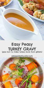 Easy Peasy Turkey Gravy - using turkey giblet stock