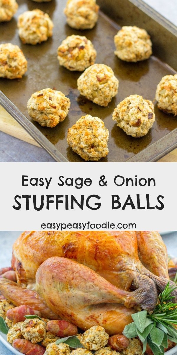 Easy Sage And Onion Stuffing Balls Easy Peasy Foodie