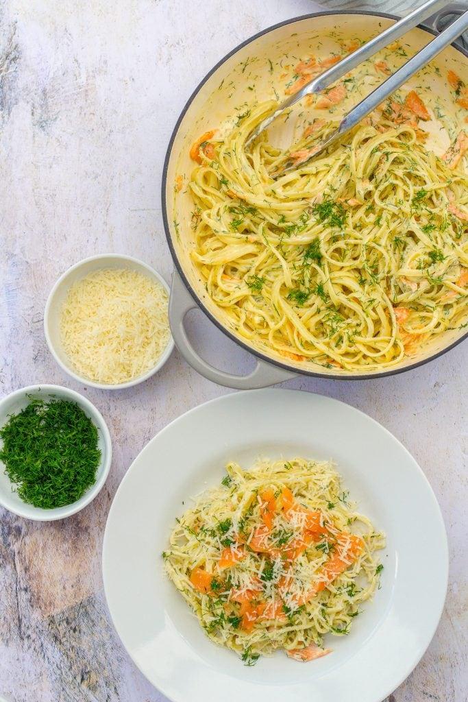 Creamy Smoked Salmon Pasta with Dill