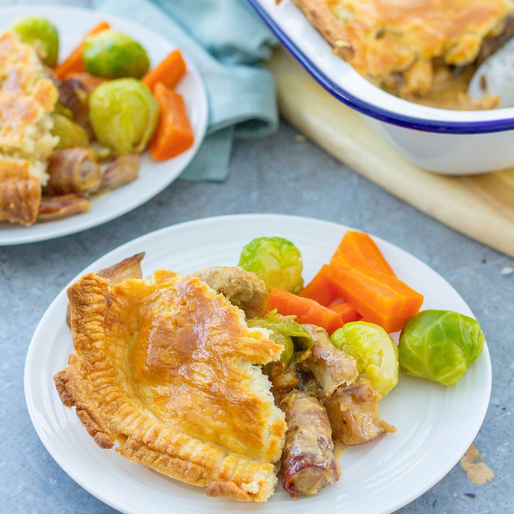 Leftover Turkey and Vegetable Pie