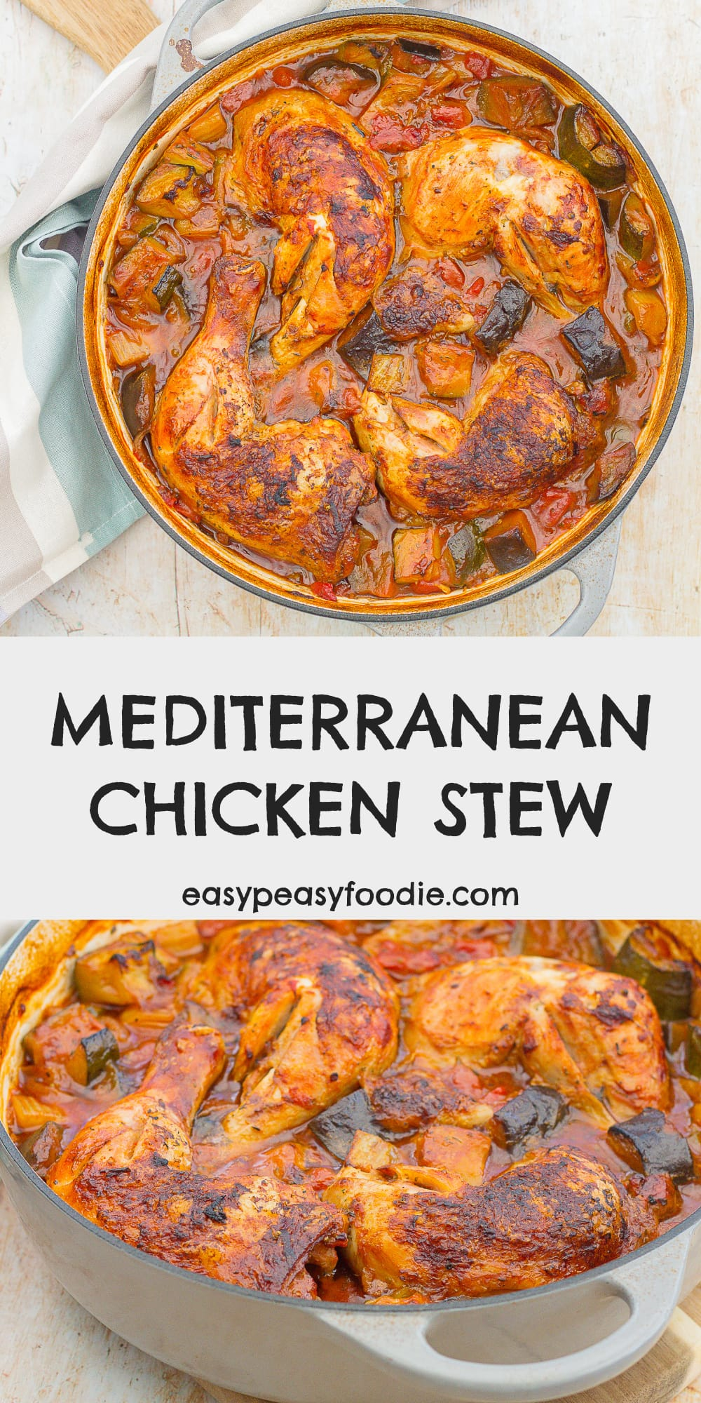 Mediterranean Chicken Stew - pinnable image for Pinterest