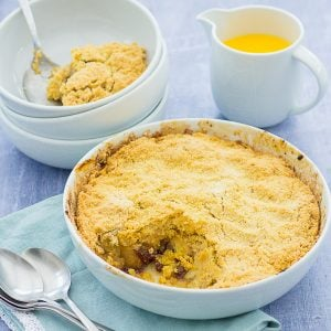 Easy Mincemeat and Apple Crumble