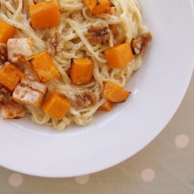 Stilton, Squash and Walnut Pasta