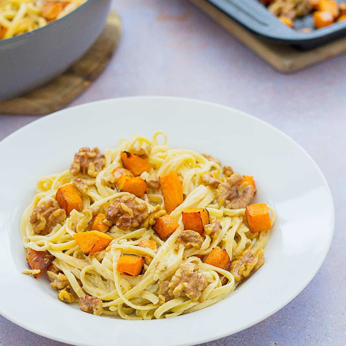 Stilton, Squash and Walnut Pasta