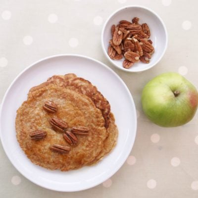 Bramley Apple Breakfast Pancakes with Maple Roasted Pecan Nuts