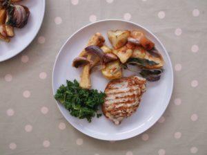 Pork, Parsnip and Apple Traybake