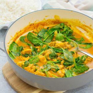 Quick Chicken and Spinach Curry (Chicken Saag)