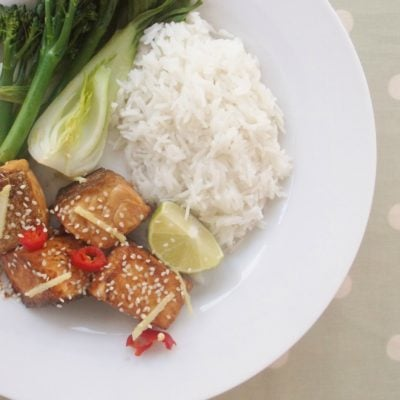 Soy, Chilli and Ginger Salmon