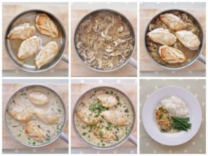 Chicken in Cream and Mushroom Sauce