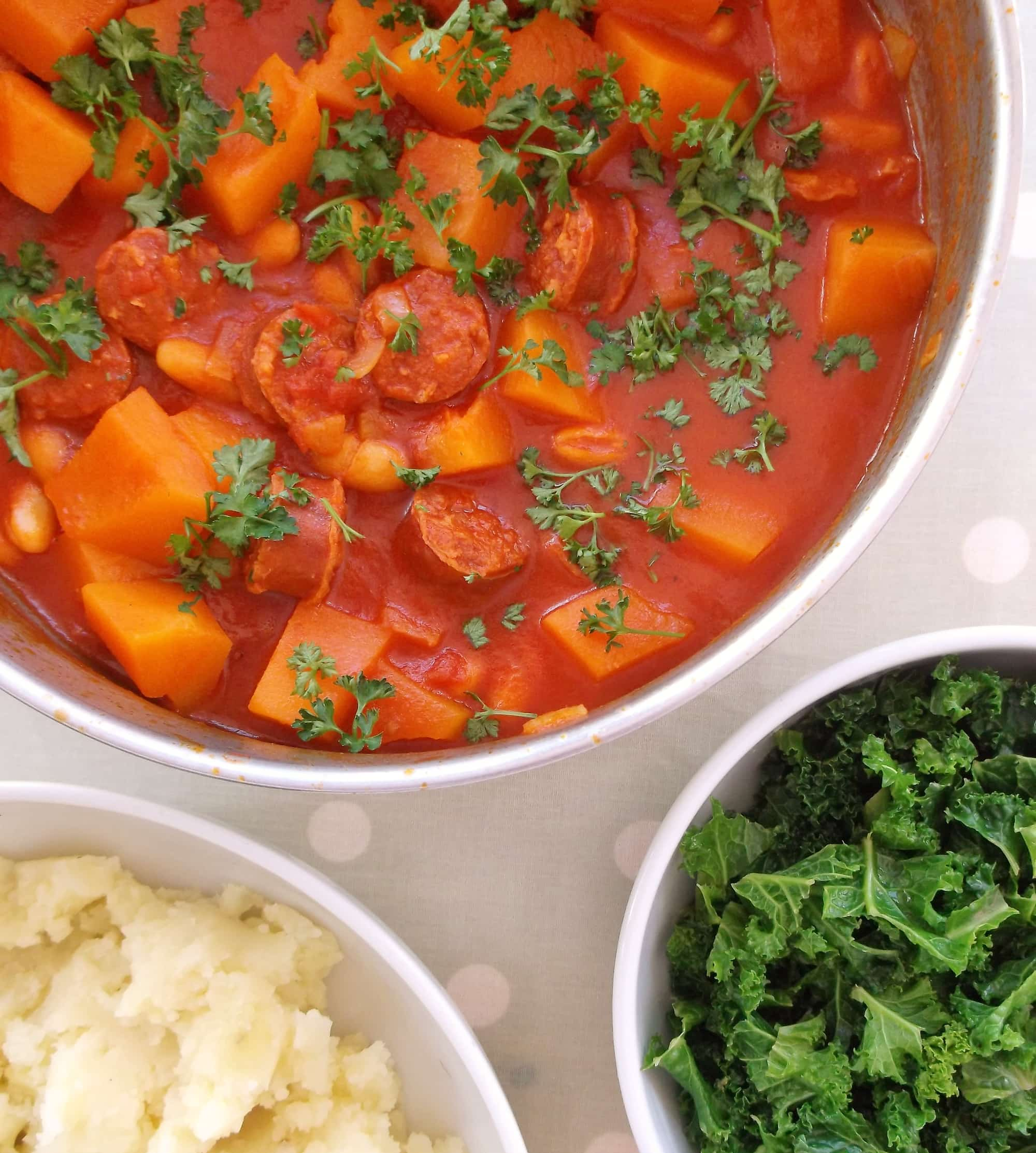 Chorizo, Cannellini Bean and Butternut Squash Stew with ...
