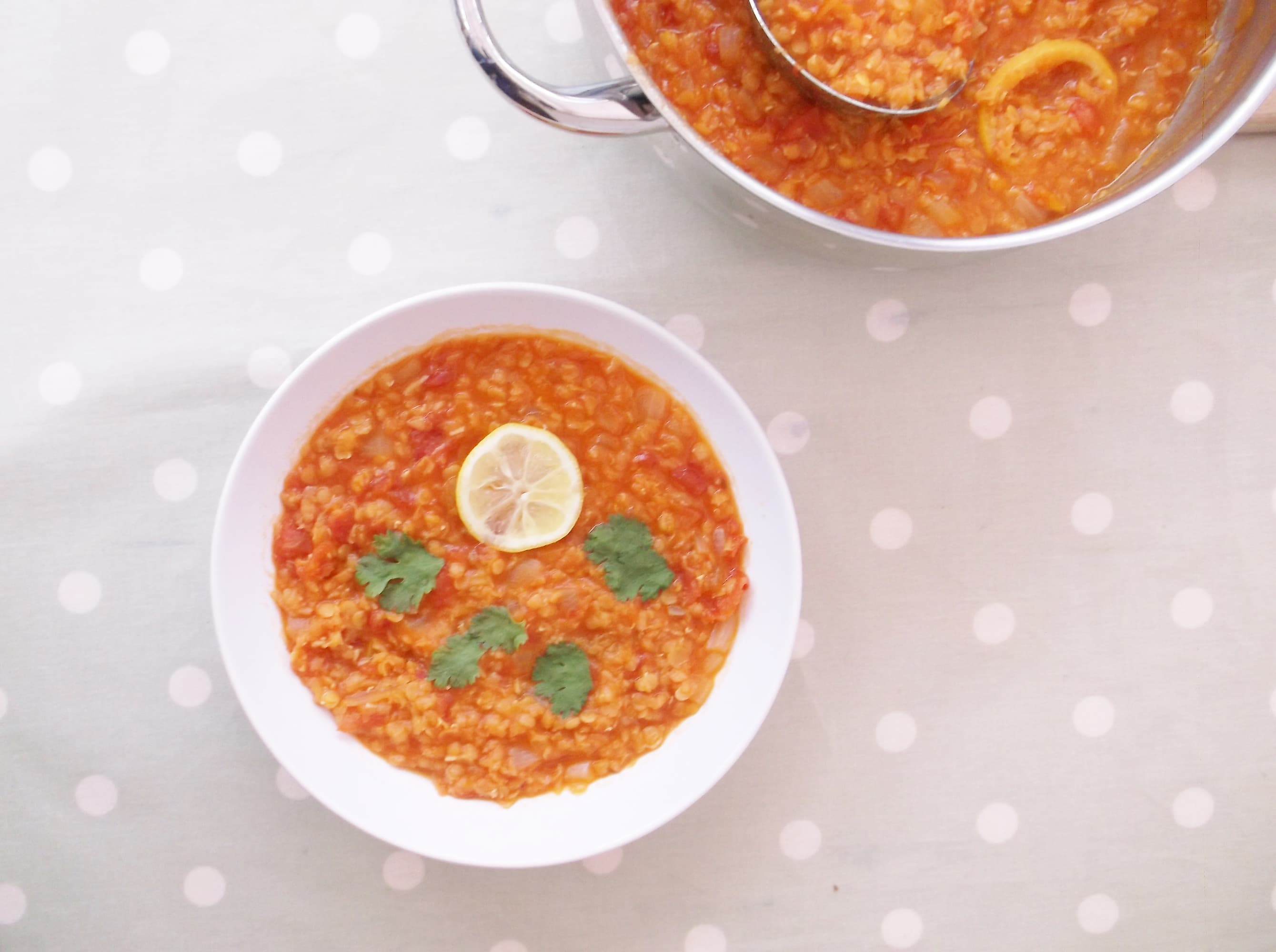 Tomato and Red Lentil Soup (Vegan)