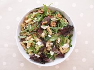 Warm Goats Cheese, Red Onion and Walnut Salad