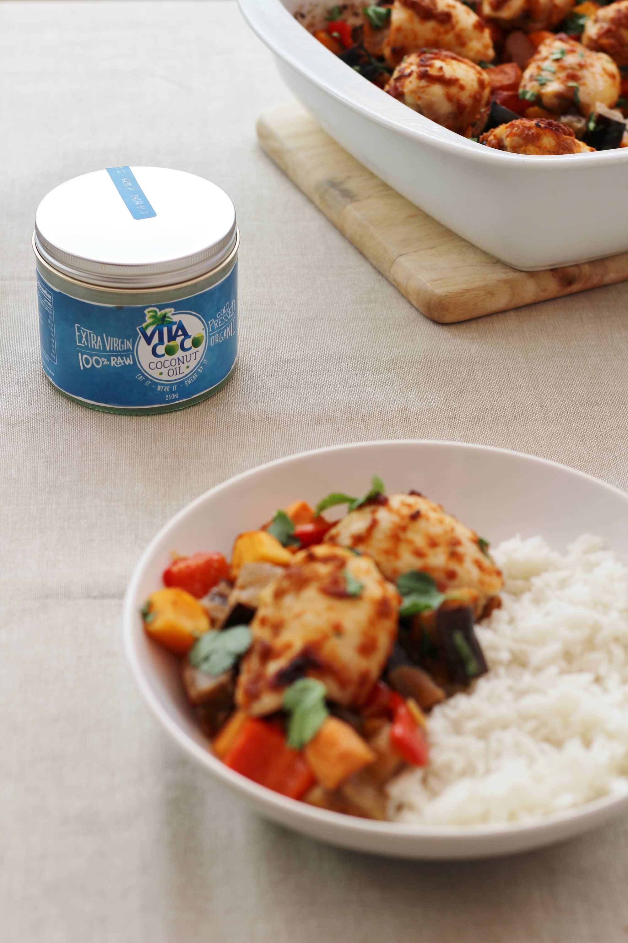 Thai Chicken Traybake And Vita Coco Coconut Oil Review Easy Peasy Foodie