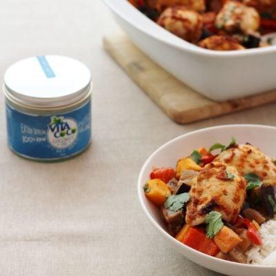 Thai Chicken Traybake and Vita Coco Coconut Oil Review