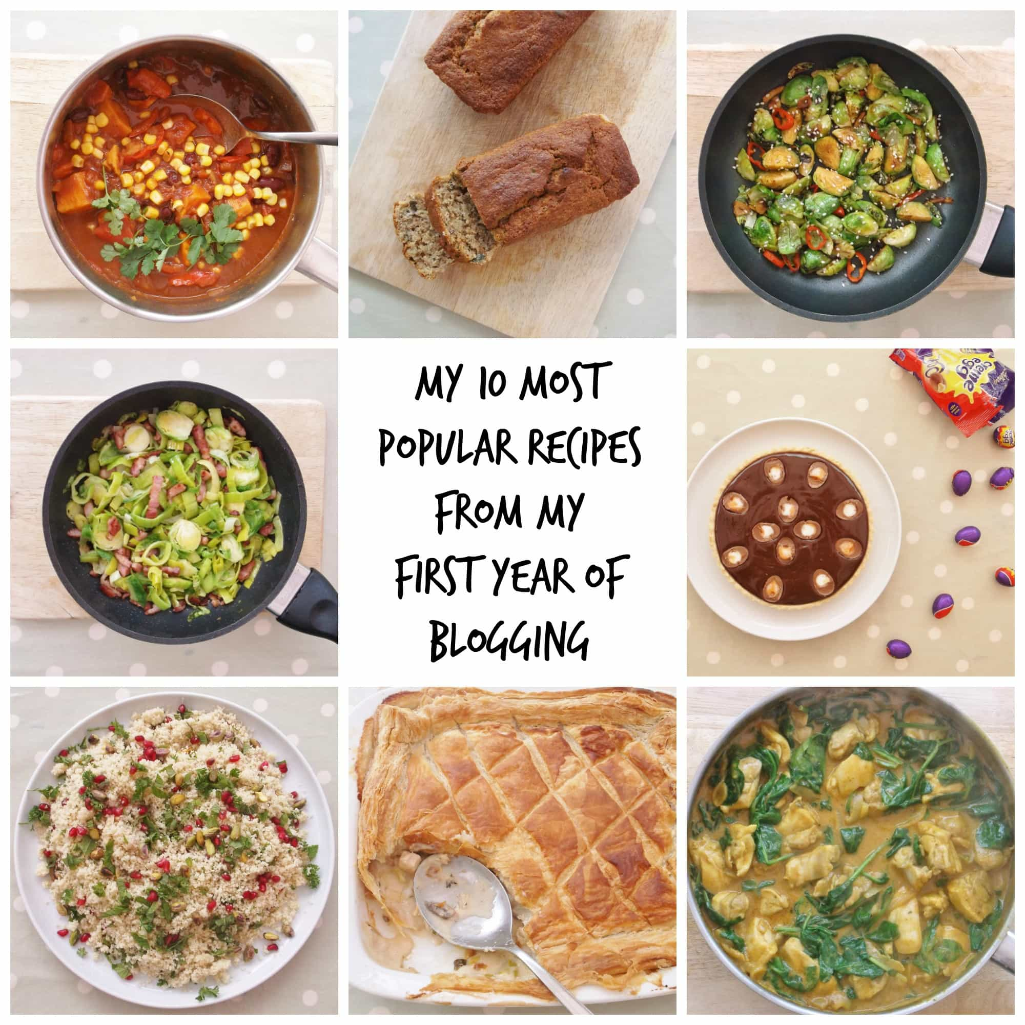 My 10 most popular recipes from my first year of blogging