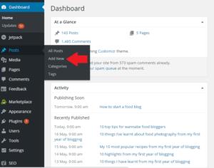 Bluehost WordPress Add New Post