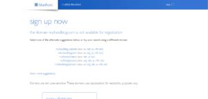 Bluehost domain unavailable