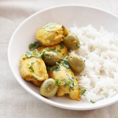 Easy Chicken Tagine with Olives and Preserved Lemon