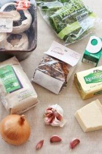 Simple Mushroom Risotto Ingredients