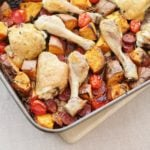 Chicken, Chorizo and Sweet Potato Traybake