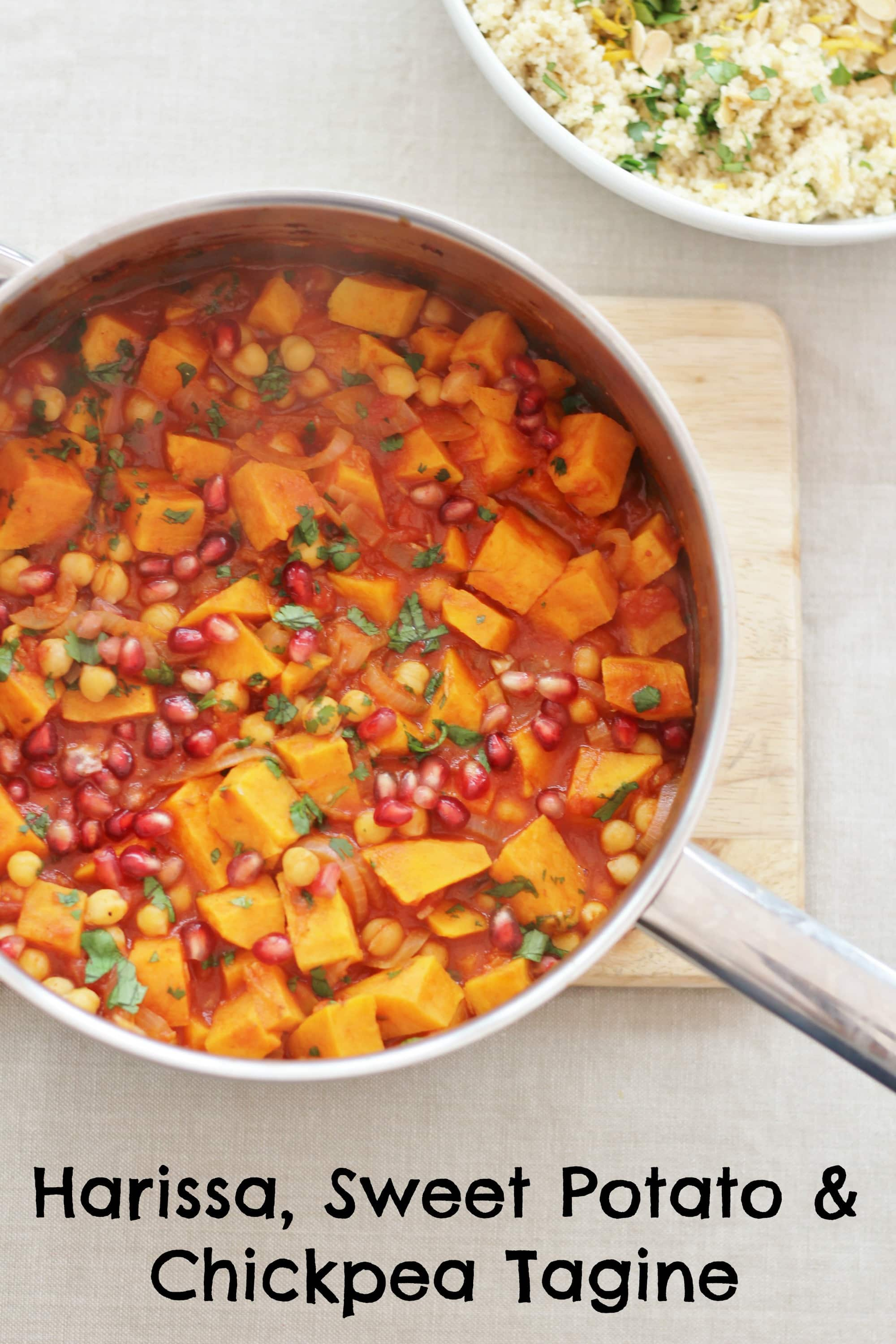 Harissa Sweet Potato And Chickpea Tagine With Lemon And Coriander Couscous