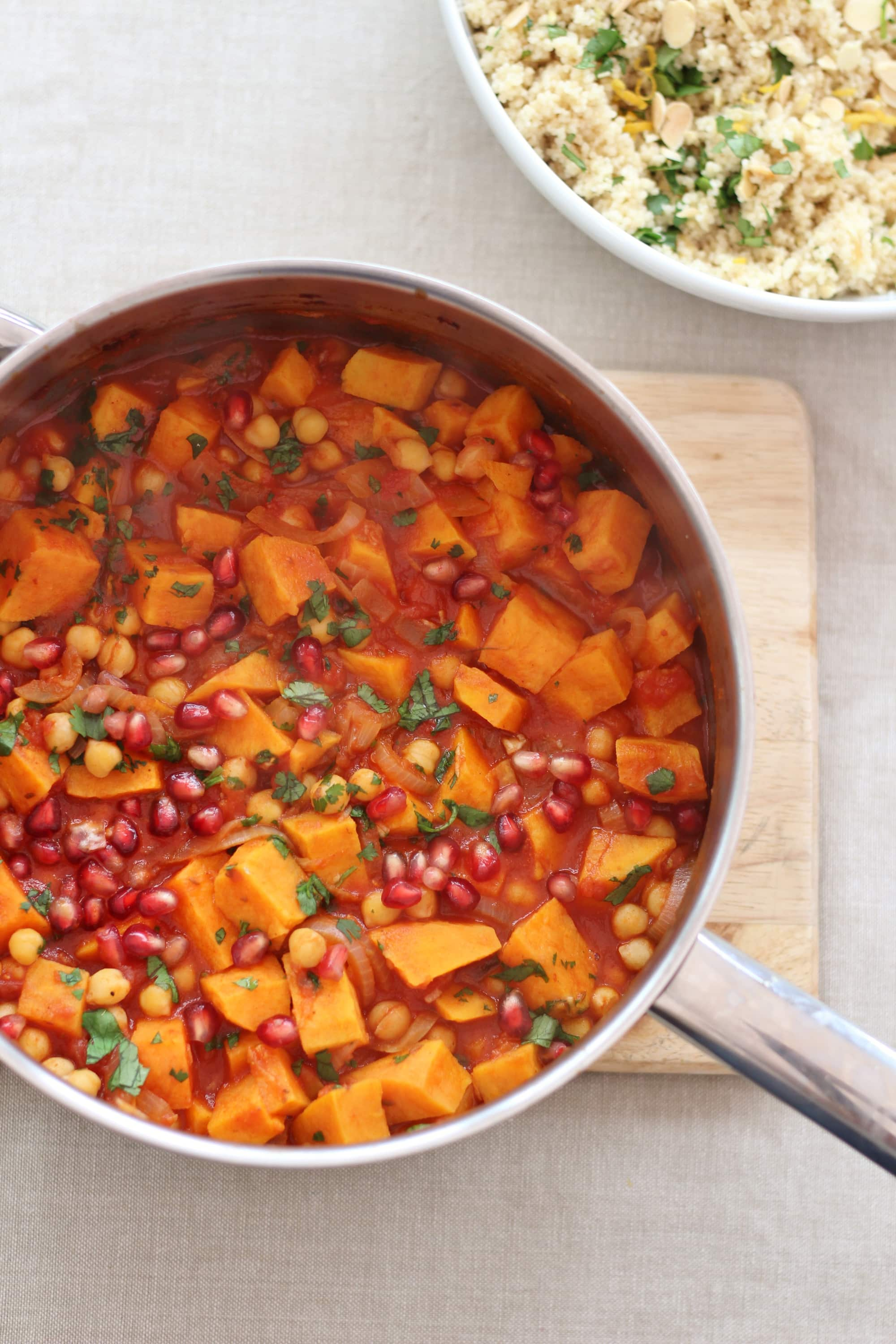 Harissa, Sweet Potato and Chickpea Tagine with Lemon and