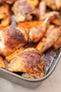 Madeleine Shaw's Smoky Roast Chicken with Sweet Potato Wedges from Get the Glow