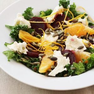 Beetroot, Kale and Mozzarella Salad from Ready Steady Glow by Madeleine Shaw
