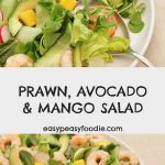 Prawn Avocado and Mango Salad - pinnable image for Pinterest