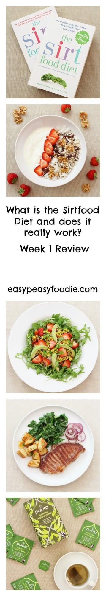 Sirtfood Diet Week 1 Review - pinnable image for Pinterest