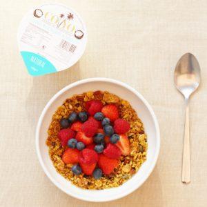 Sirtfood Granola with Berries and Coyo Coconut Yogurt (vegan)