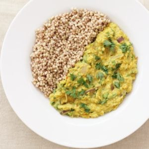 Kale and Red Onion Dhal from the Sirtfood Diet