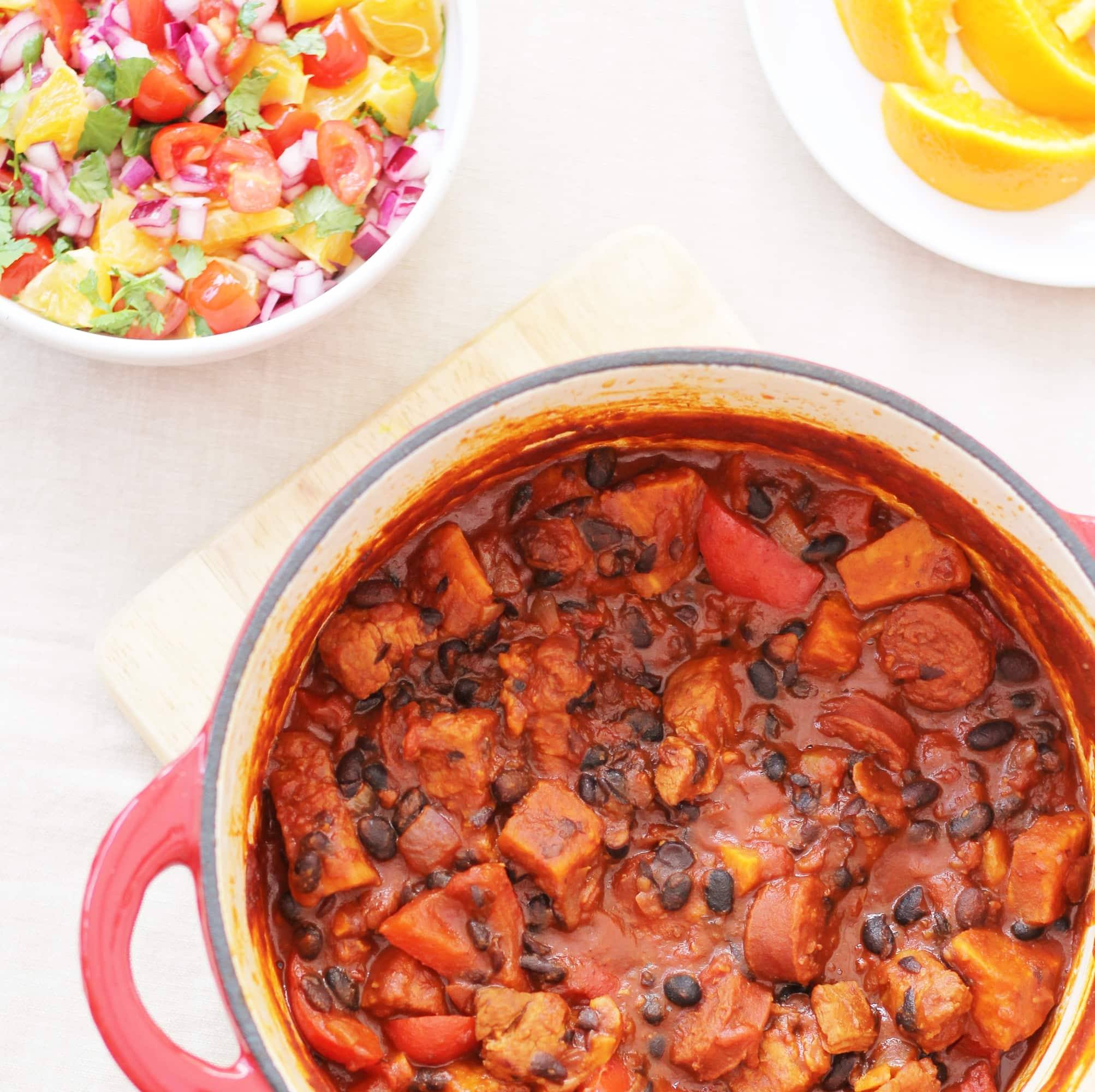 Easy Brazilian Feijoada with Orange and Tomato Salsa