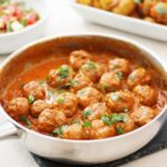 Turkey Tikka Masala Meatballs with Bombay New Potatoes